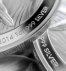 Close Up Silver Bullion Coins
