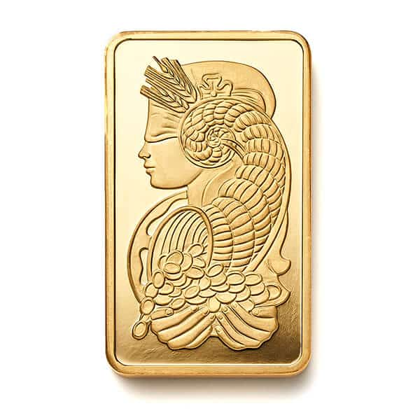 Gold Bullion Bar Front