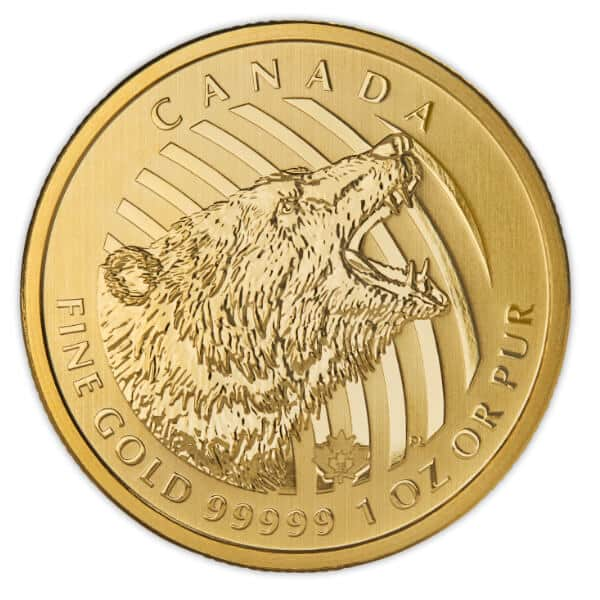 Gold Canadian Roaring Grizzly Reverse