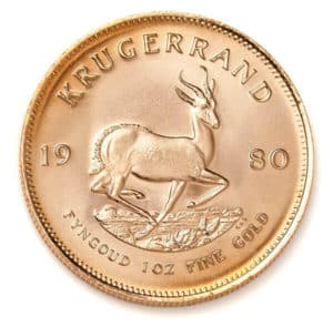 Gold South African Krugerrand Coins Reverse