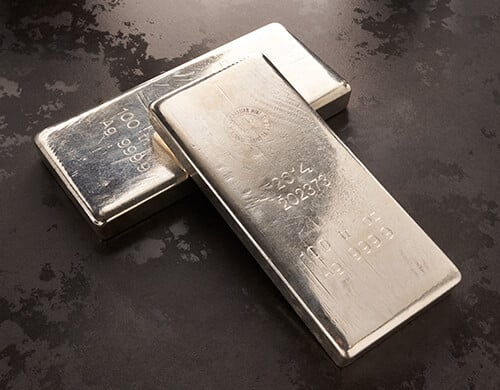 100 oz Silver Bullion Bars for Sale