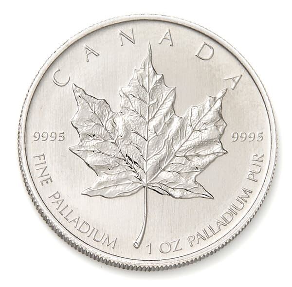 Palladium Canadian Maple Leafs Coins Reverse