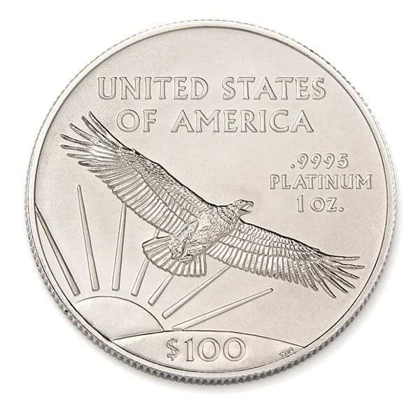 Platinum American Eagle Coin Reverse
