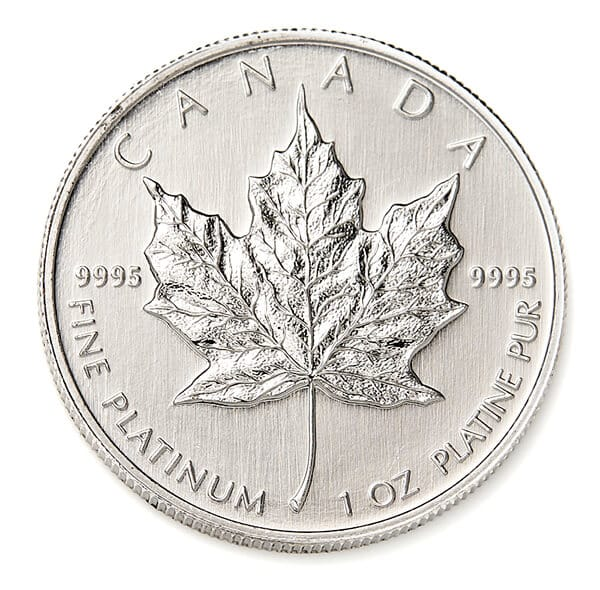 Platinum Maple Leaf Coin Reverse