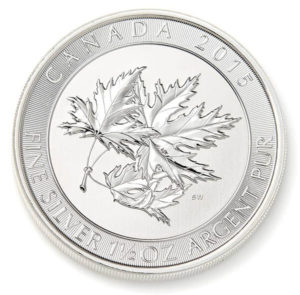 1.5 oz Silver Canadian Maple Leaf Coin