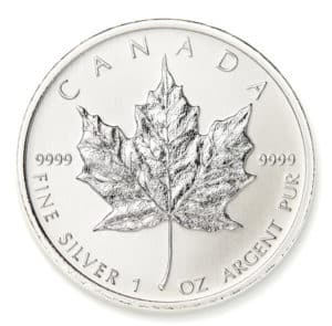 Canadian Silver Maple Leafs Reverse