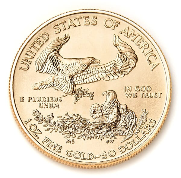 Gold American Eagle Coin Reverse
