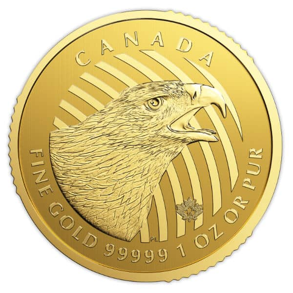 Gold Canadian Golden Eagle Coin Obverse