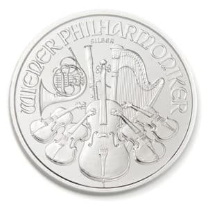 Silver Vienna Philharmonic Coin Reverse