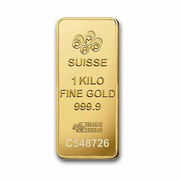 One Kilo Gold Bullion Bar Front