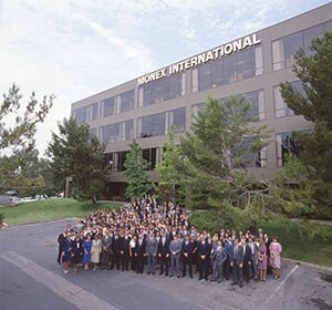 1970's Monex Building with employees